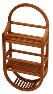 Bare Decor Teak Shower Caddie Storage Organizer, Fully Assembled