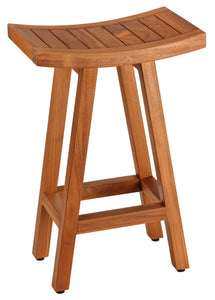 "Bare Decor Tori Spa Bar Stool in Solid Teak, 27.5"" Tall"