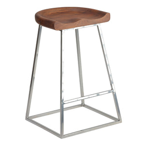 Bare Decor Monarch Saddle Seat Counter Stool (Set of 2), 25""
