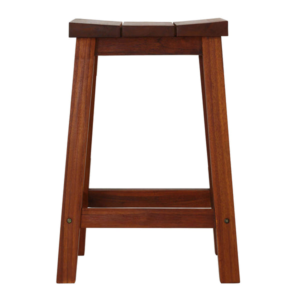 Bare Decor Socorro Solid Teak Wood Backless Counter Stool, 25""