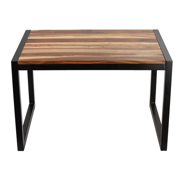 Bare Decor Delia Wood Desk Table with Metal Frame