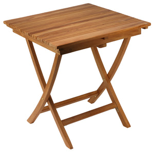"Bare Decor Helene Outdoor Teak Folding Dining Table 28"" Square"