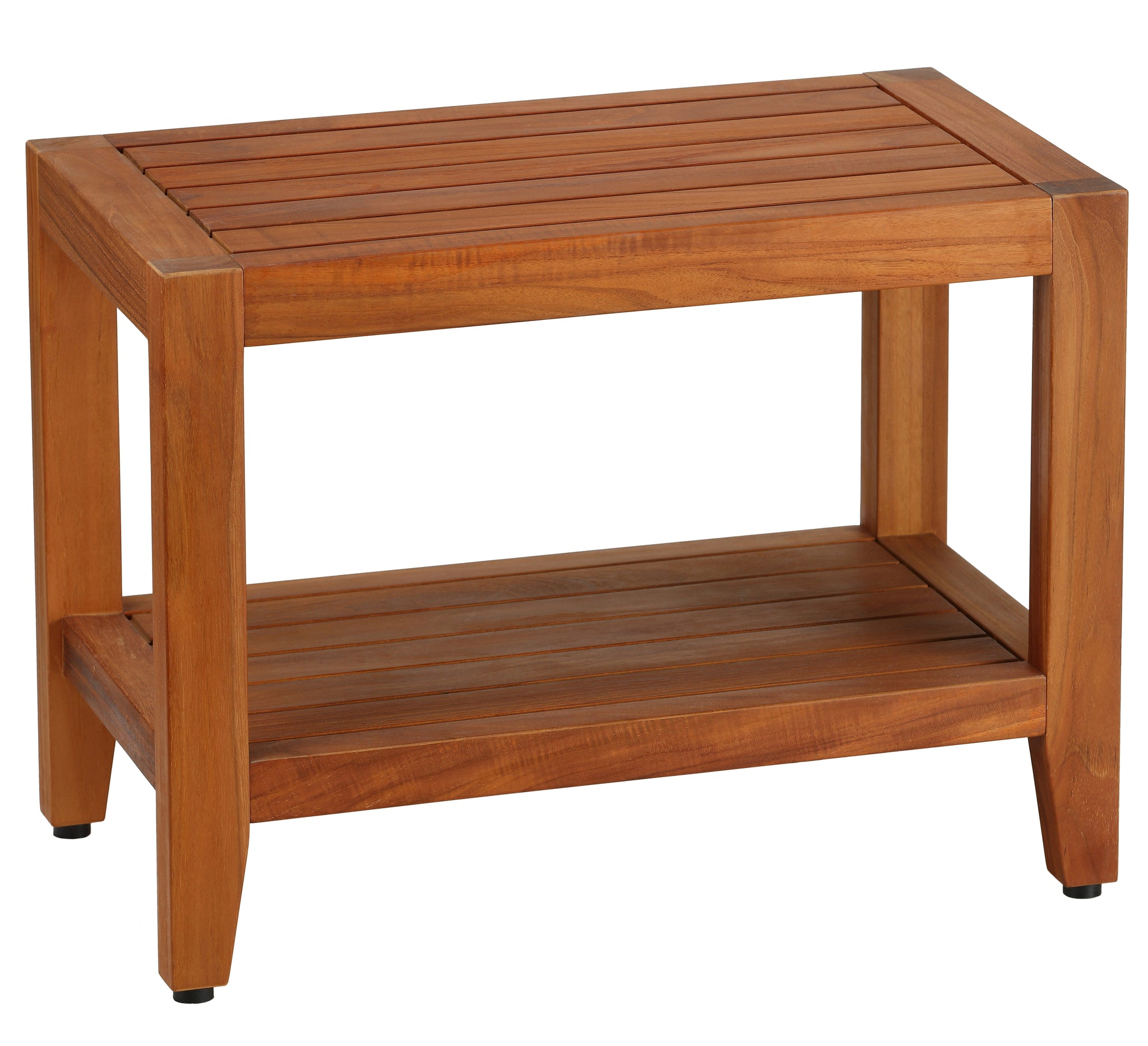 "Bare Decor Serenity Spa 24"" Bench with Shelf in Solid Teak Wood"