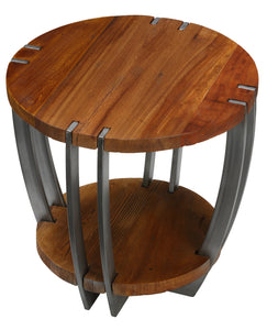Bare Decor Hudson Metal and Wood End Table