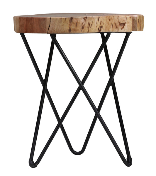 Bare Decor Sawyer Metal and Wood End Table