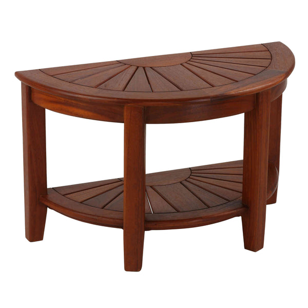 Bare Decor Chesser Solid Wood Half Circle Bench, 17""
