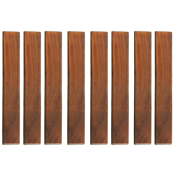 Bare Decor EZ-Floor End Pin-Side Trim Piece for Flooring in Solid Teak Wood (Set of 8)