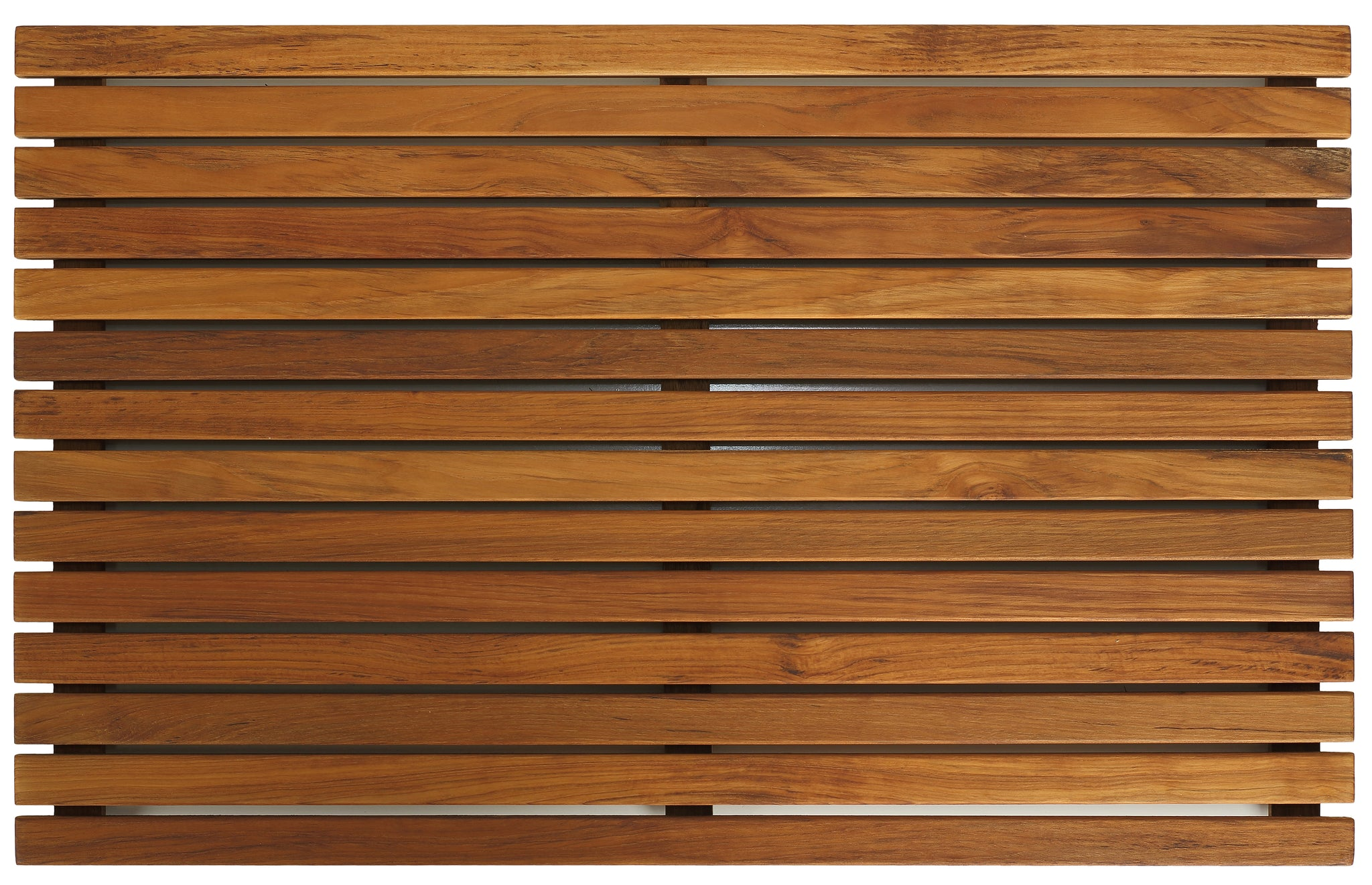 "Bare Decor Zen Shower, Spa, Door Mat in Solid Teak Wood and Oiled Finish, Large: 31.5"" x 19.5"""