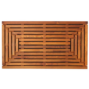"Bare Decor Giza Shower, Spa, Door Mat in Solid Teak Wood and Oiled Finish 35.5"" x 19.75"""