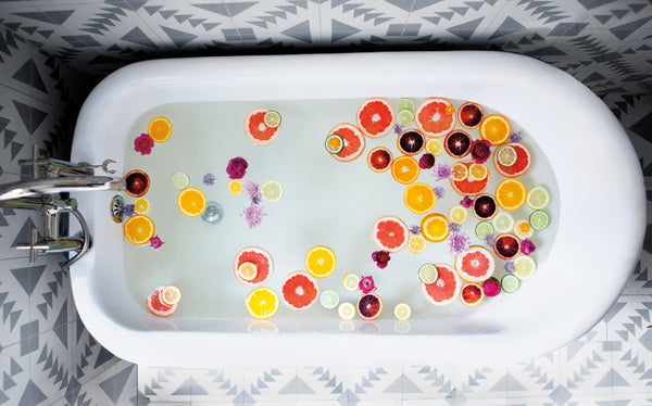 bathtub with citrus