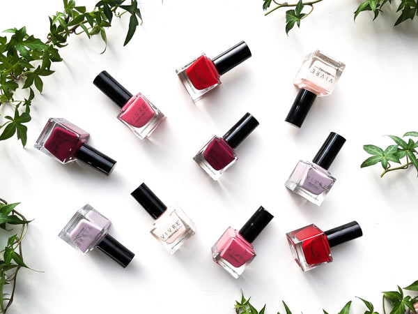 Various nail polishes from halal-certified brand Vivre Cosmetics