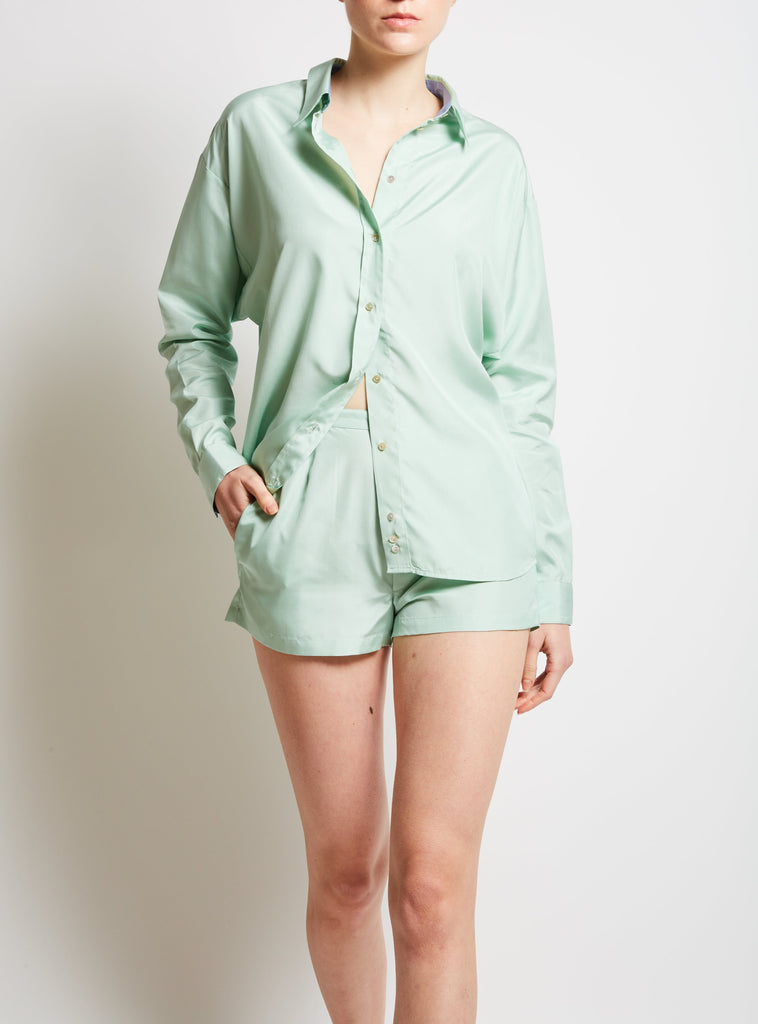 Armand Plain Silk Shorts