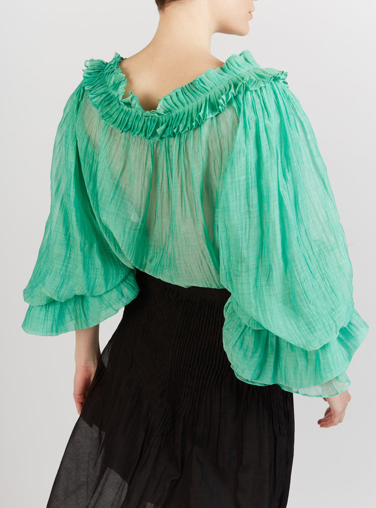 Roussia Blouse Veridian Green