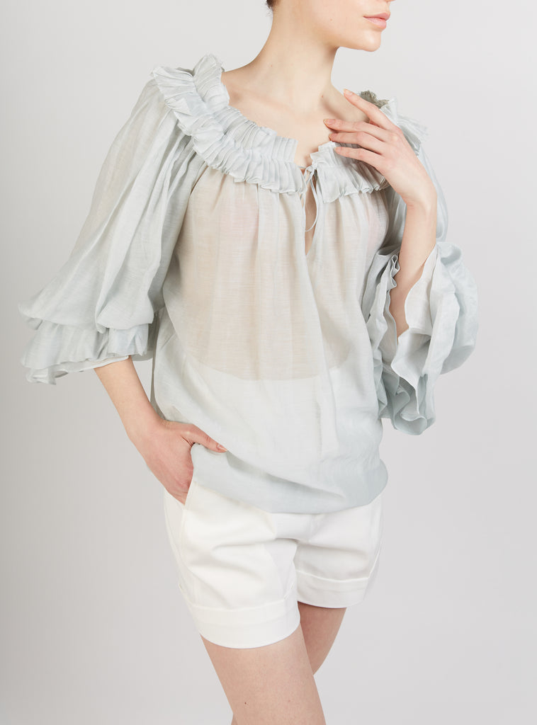 Roussia Blouse Pearl Grey