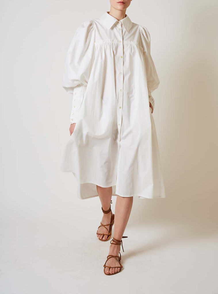 WENDY GOTHIC SMOCKS WHITE