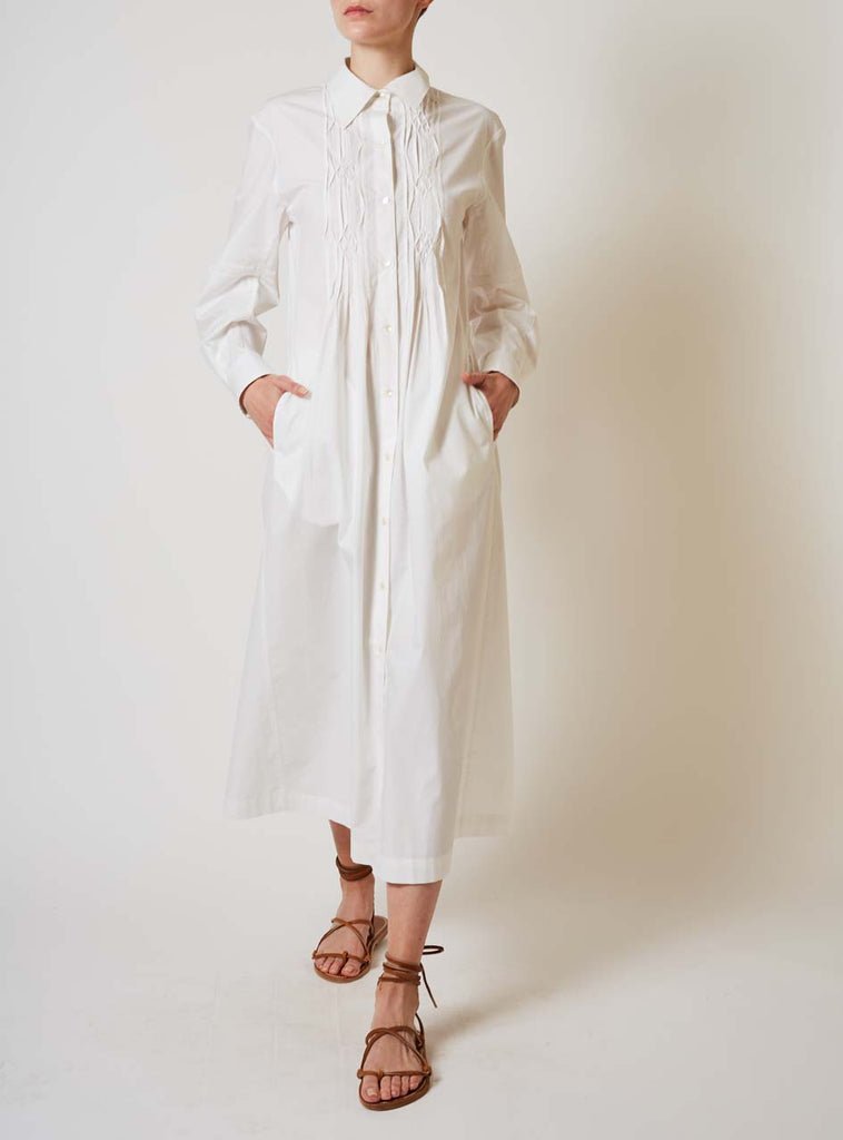 WILDA GOTHIC SMOCKS WHITE