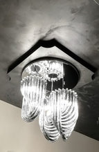 Load image into Gallery viewer, TRIPLE  LOOP Murano Glass Chandelier