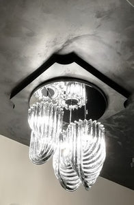 TRIPLE  LOOP Murano Glass Chandelier