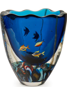 FISHPOND Murano Glass Vase