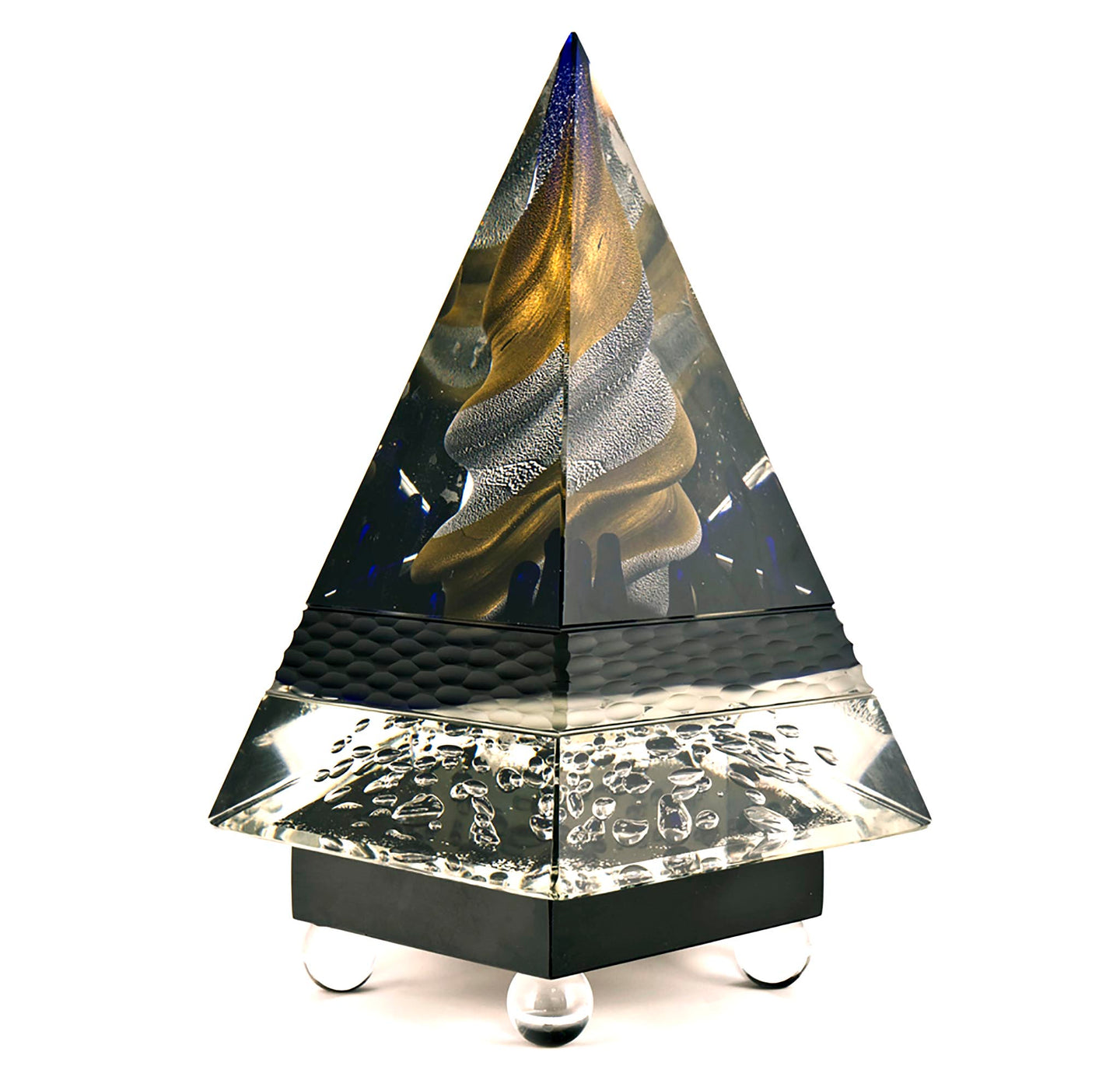 PYRAMID Murano Glass Sculpture