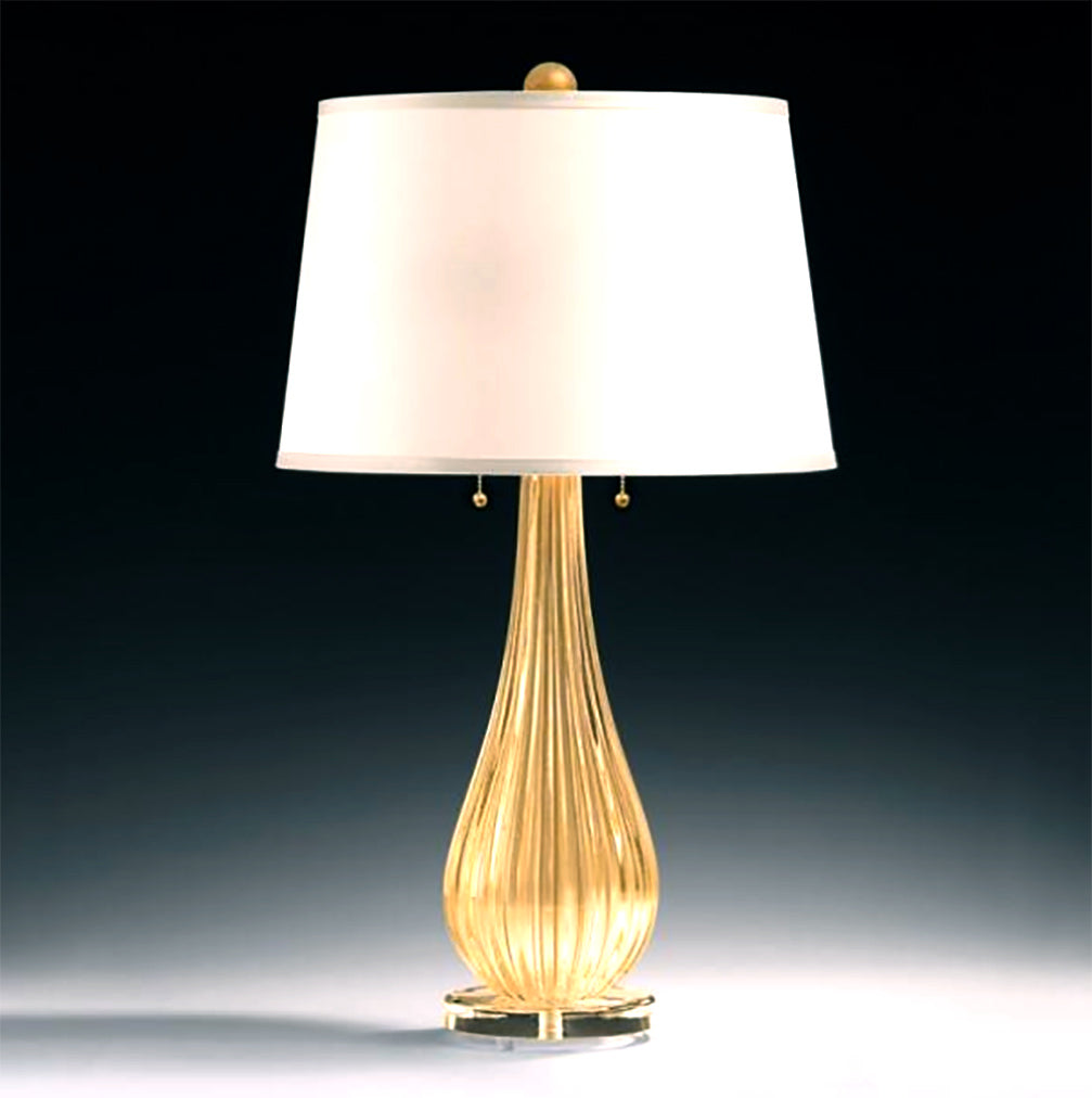 SAN MARCO Murano Glass Table Lamp.