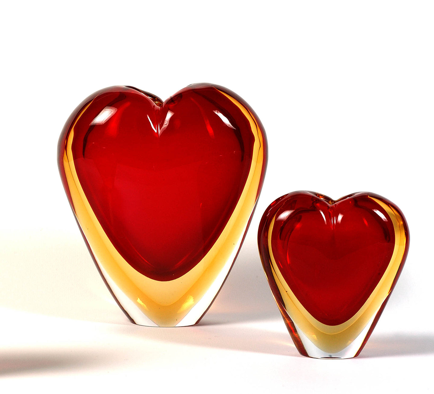 COR Heart Murano Glass Vase