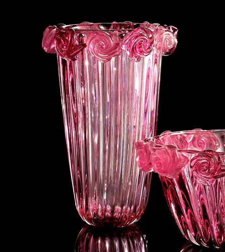 ROSE Murano Glass Vase