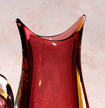 Load image into Gallery viewer, SBRUFFI Pointed Murano Glass Vase