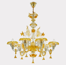 Load image into Gallery viewer, GRAND Venetian Glass Chandelier
