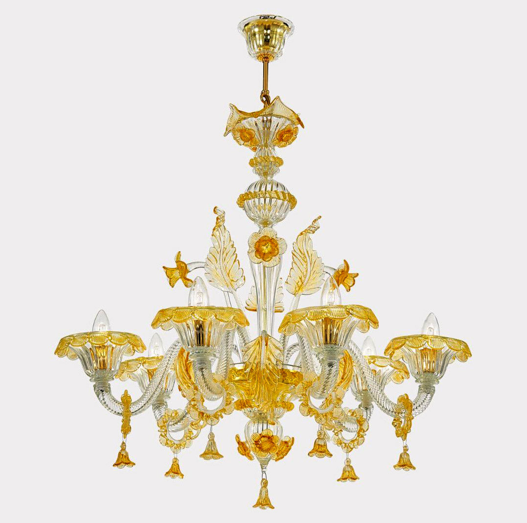 GRAND Venetian Glass Chandelier