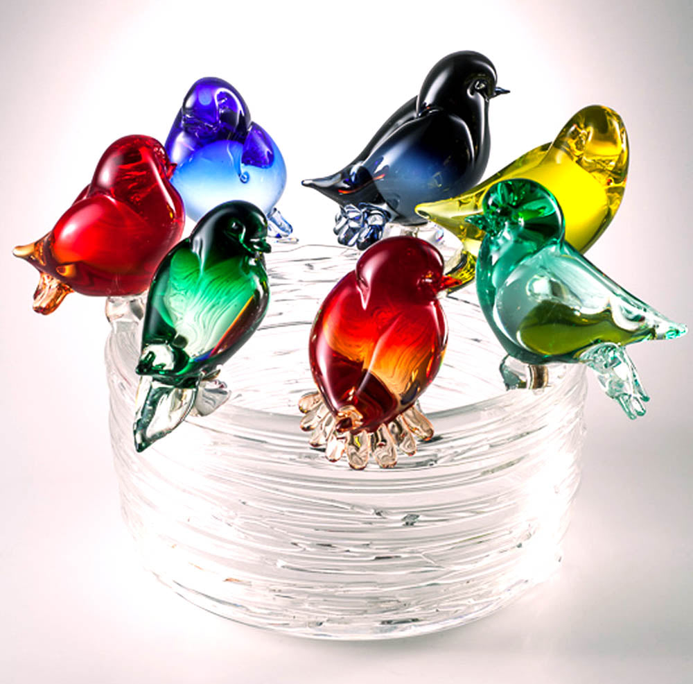 BIRDS NEST Murano Glass Sculpture