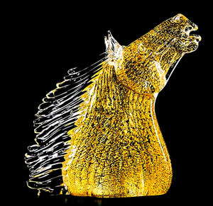 DRESSAGIO Murano Glass Sculpture