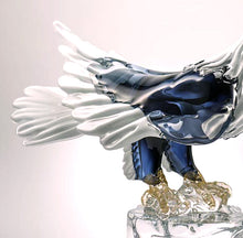 Load image into Gallery viewer, STANDING AMERICAN EAGLE Murano Glass Sculpture