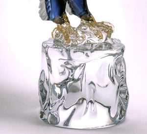 STANDING AMERICAN EAGLE Murano Glass Sculpture