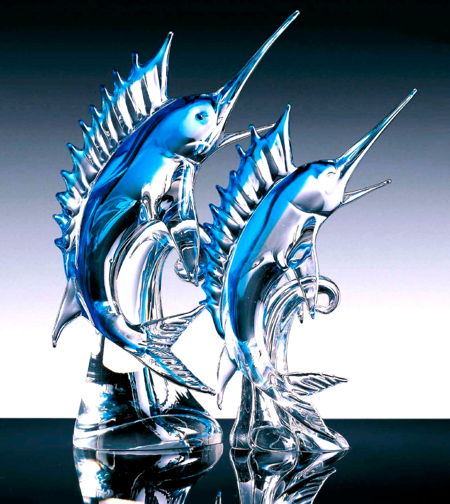 BLUE MARLIN Murano Glass Sculpture