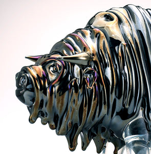 BUFFALO Murano Glass Sculpture