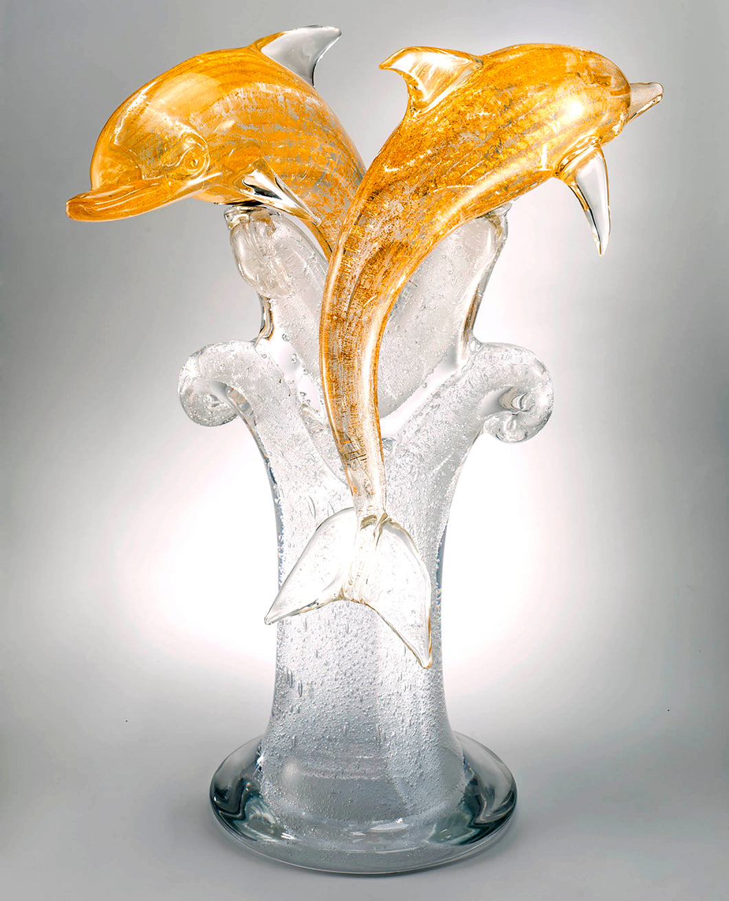 DOLPHINS Murano Glass Sculpture