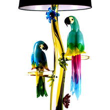 Load image into Gallery viewer, PARROTS Murano Glass Lamp