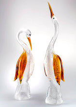 Load image into Gallery viewer, PAIR OF HERONS Murano Glass Sculpture