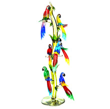 Load image into Gallery viewer, TROPICAL BIRD TREE Murano Glass Sculpture