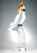 Load image into Gallery viewer, WHITE COCKATOO Murano Glass Sculpture