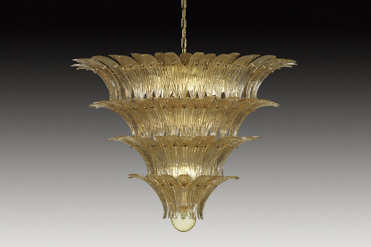 PALMETTE GOLD Murano Glass Chandelier