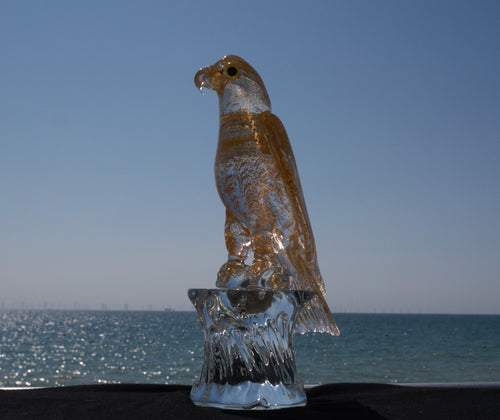 ARABIAN HAWK Murano Glass Sculpture