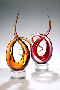 KNOTS AND RIBBONS Murano Glass Sculpture