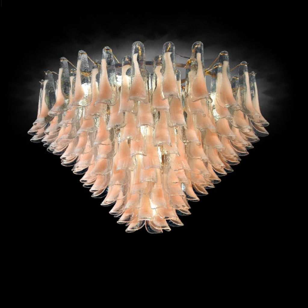 CORAL LEAVES Murano Glass Chandelier