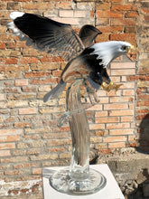 Load image into Gallery viewer, AMERICAN EAGLE Murano Glass Sculpture