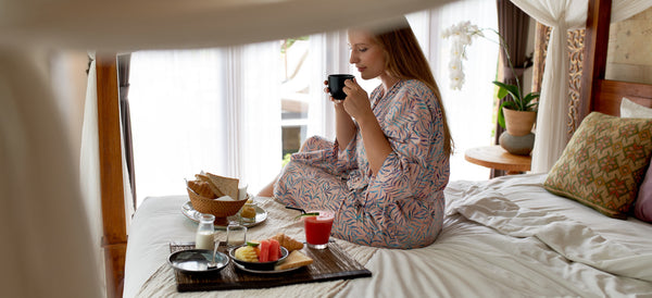 breakfast in bed surprise | date night in ideas