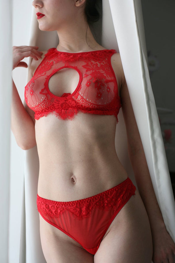 Malva Red Lingerie Set