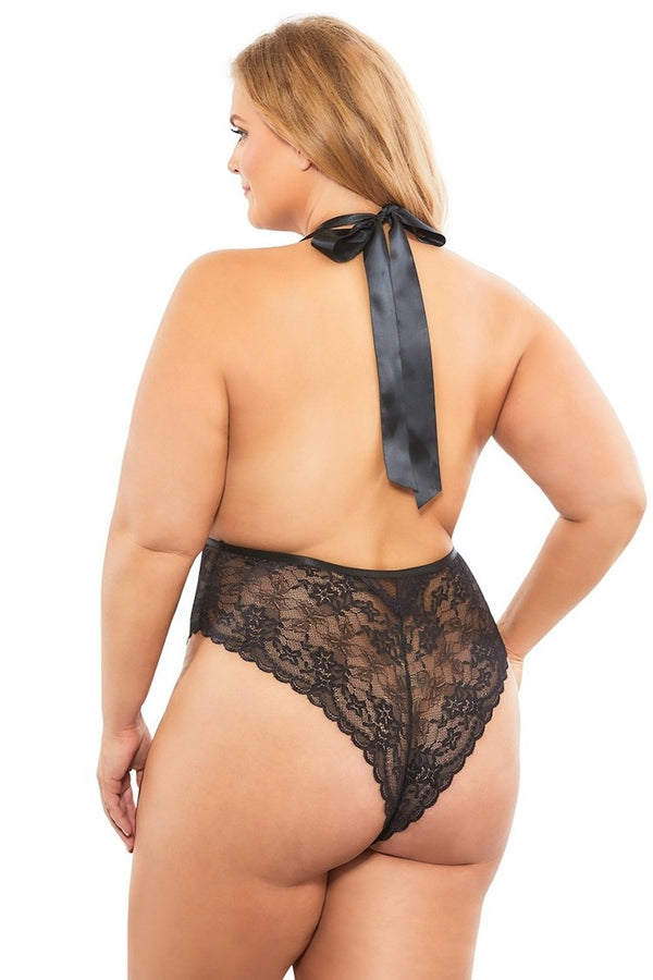 Aria Sheer Plus Size Bodysuit
