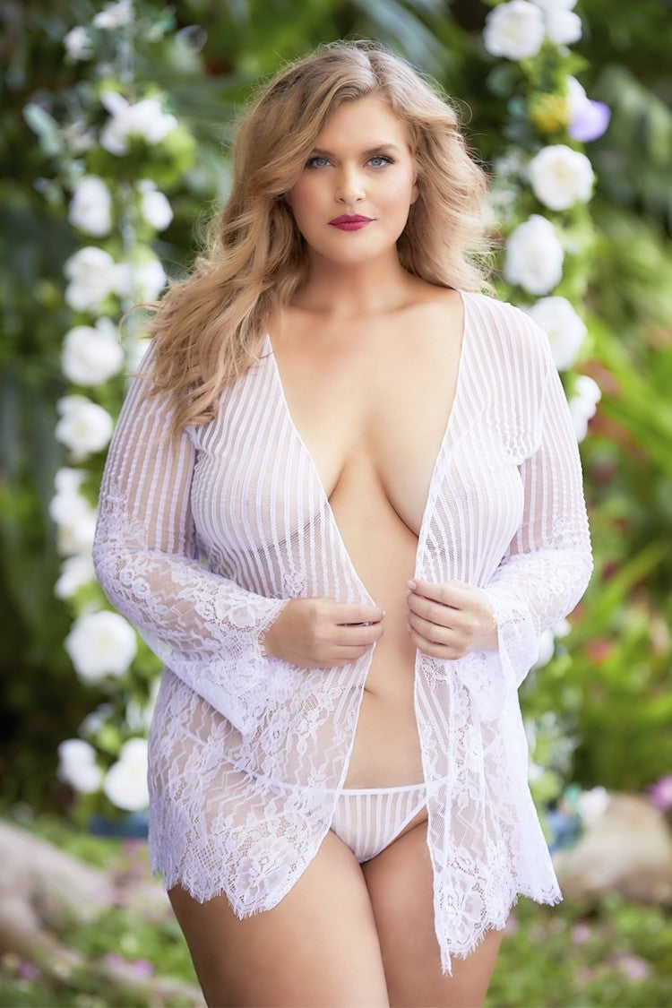 Luna Sheer Plus Size Robe | Women's Sexy Lingerie | Anya Lust